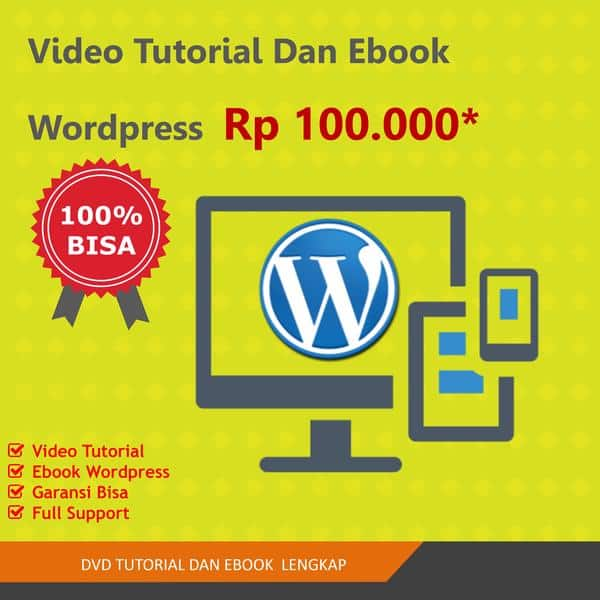Video Tutorial dan Ebook WordPress